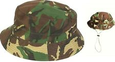 Camo Cotton Bush Hat Small Military Bucket Sun Cap British Army Camouflage Treks