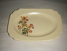 VERY EARLY MARCH 1923 HOMER LAUGHLIN PLATTER C3N ART DECO BAMBOO FLORAL YELLOW