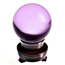 """Pink (Rose) Crystal Ball 150mm 6"""" Include Wooden Stand"""