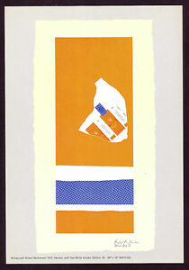 1970s Vintage Robert Motherwell Offset Lithograph Abstract Art Print b