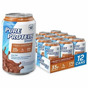 Pure Protein Ready to Drink Shakes High Protein Frosty Chocolate, 11 Ounce (12