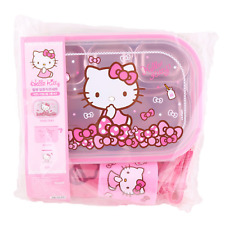 Hello Kitty Food Tray Set Bento Lunch Box Container stainless steel