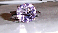 Unbranded Solitaire Amethyst Sterling Silver Fine Rings
