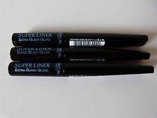 3 x L'Oreal Paris Super Liner Extra Black Gloss Precision Tip Eyeliner New