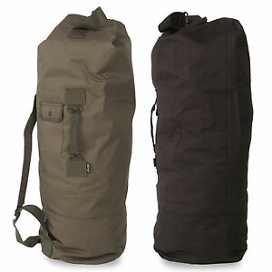 US Army Military Style PES Double Strap Duffle Duffel Bag Pack Rucksack Backpack