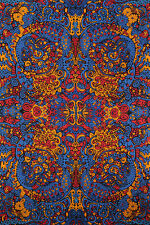 3-D Psychedelic Liquid A Tapestry 60X90 Free Shipping & 3-D Glasses 75192