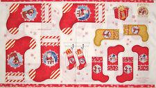 Christmas Fabric - Rudolph Reindeer Stocking 50th Anniversary QT #23256 - PANEL