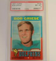 1971 Topps Football Bob Griese #160  PSA 6