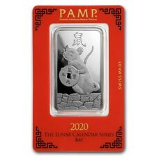 2020 ~ 1 ~ OZ ~ 999 SILVER ~ YEAR of the RAT ~ PAMP SUISSE ~ SEALED BAR ~ $70.88