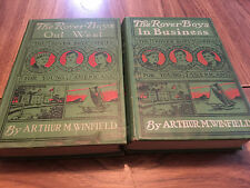 Rover Boys in Business & Out West  by Arthur Winfield 1900 &1915  Illust
