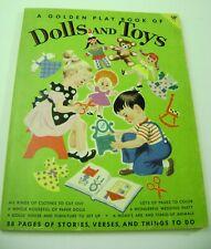 Vtg Paper Dolls 1953 Play Book Dolls Toys Hilda Miloche 88 Pages Uncut Rare!