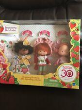 2010 STRAWBERRY SHORTCAKE 30th Anniversary Set 3 Dolls Vintage Style NRFB