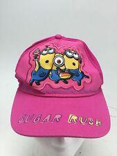 Girls Despicable Me Minions Hat Pink Sugar Rush Cupcake Baseball Cap Youth Kids