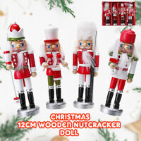 4X Wooden Nutcracker Soldier Vintage Style Handcraft Puppet Doll Decor Xmas Gift