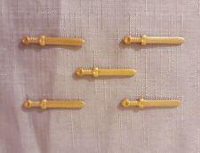Playmobil Romans gold sword x 5, knight, viking, dwarf accessories, spare parts