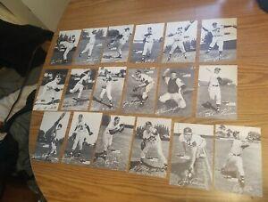 1954 Spic & Span dry cleaning Milwaukee Braves 18 postcard set Hank Aaron ROOKIE
