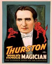 Vintage Antique Rare POSTER  1920's   THURSTON  Magic Show Magician Circus