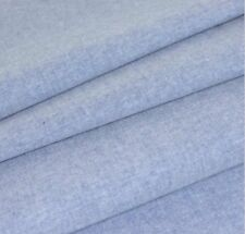 Chambray Fabric Plain - Denim Blue