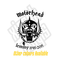 Motorhead Lemmy Kilmister pegatina de Vinilo calcomanía auto Rip Memorial (ventana opcional)