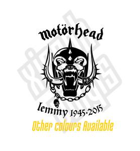 Motorhead Lemmy Kilmister vinyl sticker decal car rip memorial (window optional)