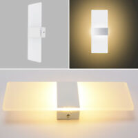 12W LED Warm/Cool Wall Light Up Down Cube Sconce Indoor Lighting Lamp Fixture US