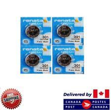 Mercury Sr43Sw Swiss Made Cdn Seller 4 Pcs Renata 301 Watch Batteries 0%