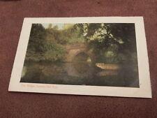 Early postcard- The bridge Cannon Hill Park - Birmingham West Midlands