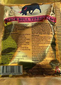 Black Bull Turbohefe Turbo Yeast - Hefe für Zuckermaische & Obstmaische -18% Vol