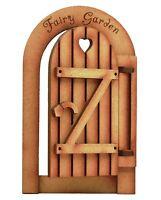 Opening Wooden Fairy Door: Rustic Fairy Garden Gate Working Fairy Door Craft Kit