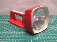 Vintage Eveready Commander Lantern Flashlight Red Spotlight large battery 6 volt
