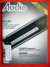 """Audio"" 6/85 Akai GX-R99, Quad ESL-63, Meridian MCD, ADS CD3"