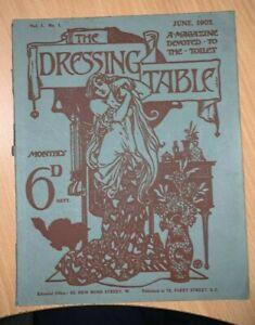 The Dressing Table Magazine Devoted to the Toilet No 1 1902 UK Ladies magazine
