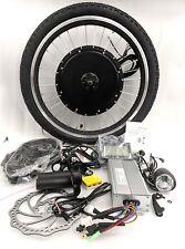 """48V 1500w Kit di conversione bici elettrica 20"""" RUOTA ANTERIORE LCD DISPLAY Rigen di frenatura"""