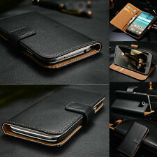 Classic Genuine Leather Flip Wallet Case Cover For LG