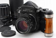【N MINT 3 Lens】 Pentax 6x7 Eye level 67 Mup w/ 105mm 135mm 300mm Grip Japan 923