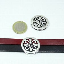 5 Fornituras Hebillas Para Cordón 28mm T215 Plata Tibetano Leather Bracelet