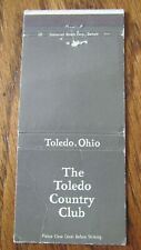 GOLF: TOLEDO COUNTRY CLUB (OHIO) (SIZE 30 STICK MATCHBOOK) -F11