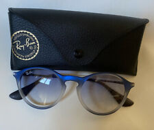 RAY-BAN ROUND SUNGLASSES RB4243 BLUE GREY/LIGHT BLUE GRADIENT