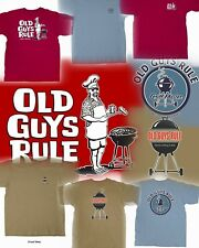 3 OLD GUYS RULE BBQ THEMED T-SHIRTS SIZE M YOU GET ALL THREE!