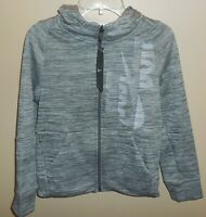 Nike Therma Boys Small Full Zip Hooded Jacket Black Grey 939852-091 New