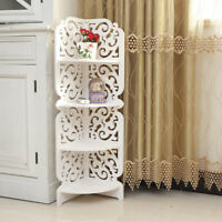 4 Tier Wall Mounted Corner Shelf/Shelves Display Carved Dampproof Unit Bathroom