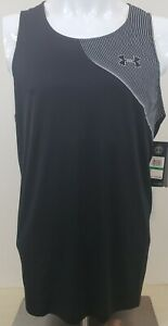 Under Armour Qualifier Iso-chill Running Fitted Heatgear Sz Large Black White