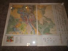 Geologic Map of Colorado (1935 United States Geological Survey) Two Sheets