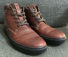 ECCO Brown Leather Casual Ankle Boots Outdoor Shoes Size 7 UK 40 EU