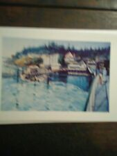 ARRIVING @ ORCAS ISLAND VINTAGE GREETING CARD WASHINGTON STATE FERRIES