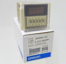 OMRON dh48s-2z (h5cn) tempo relè time Relay 24vac/dc 0,01s-99h99m Socket pf083a