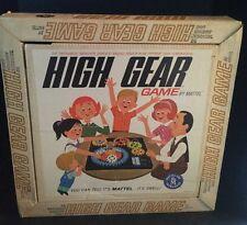 1962 Mattel High Gear Board Game VTG No. 460 Complete w Box Mechanical