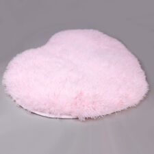 Heart Mat Soft Fluffy Rug Faux Fur Heart Shape Pink Carpet Home Decor