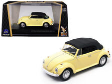 New 1/43 Scale Yellow 1962 Volkswagen VW Beetle Convertible for MTH & Lionel