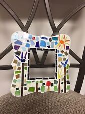 handmade stained glass mosaic art picture frame